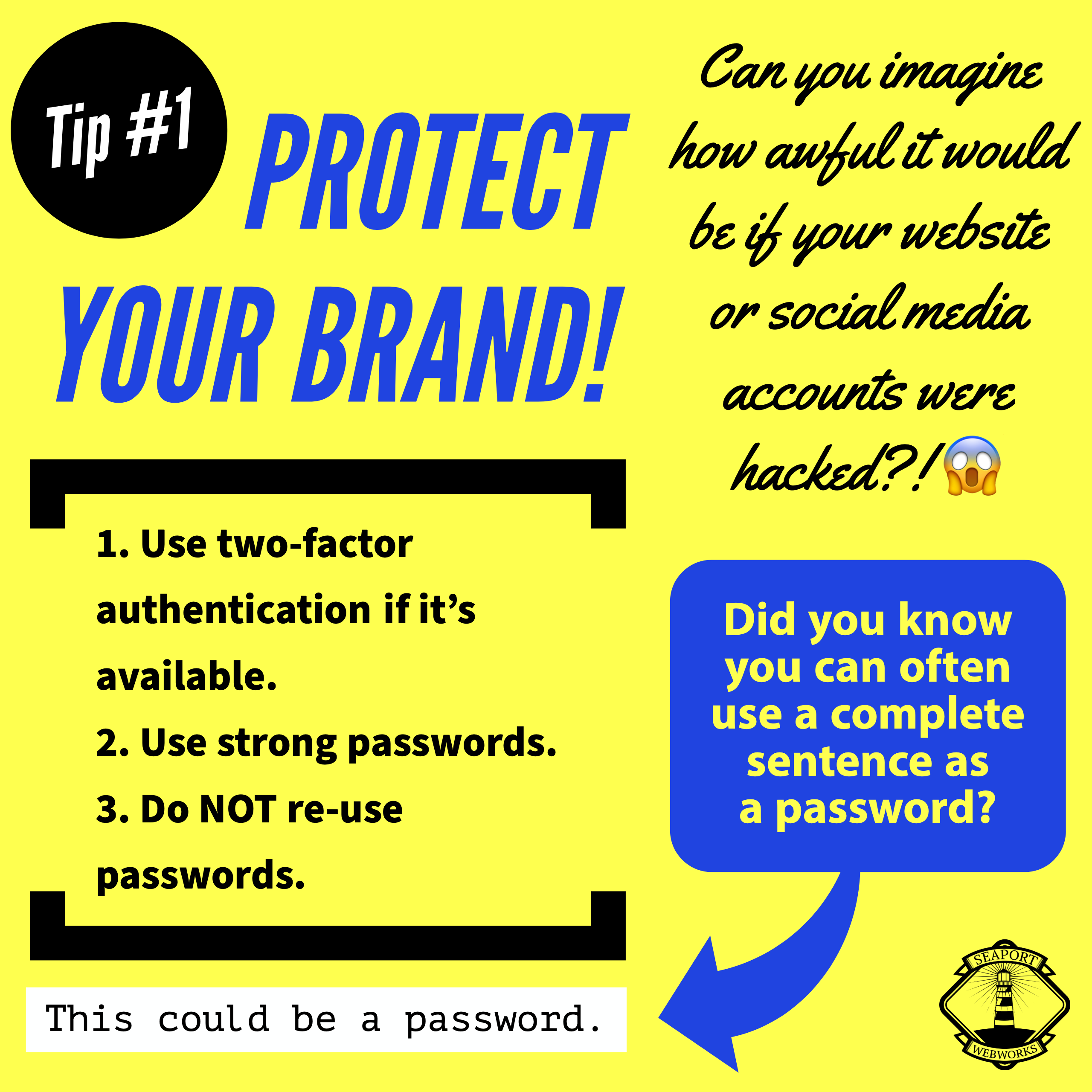 Web Tips #1: Protect Your Brand!