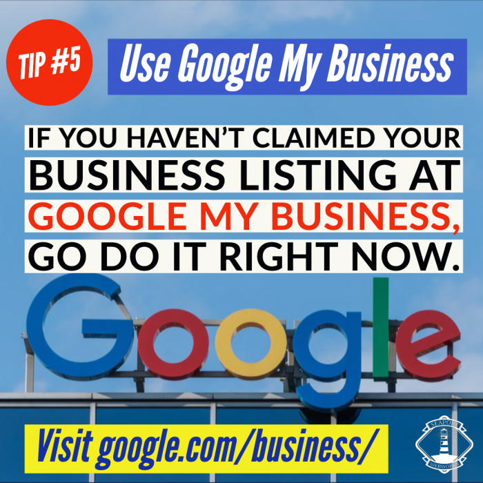 Set up your Google My Business listing